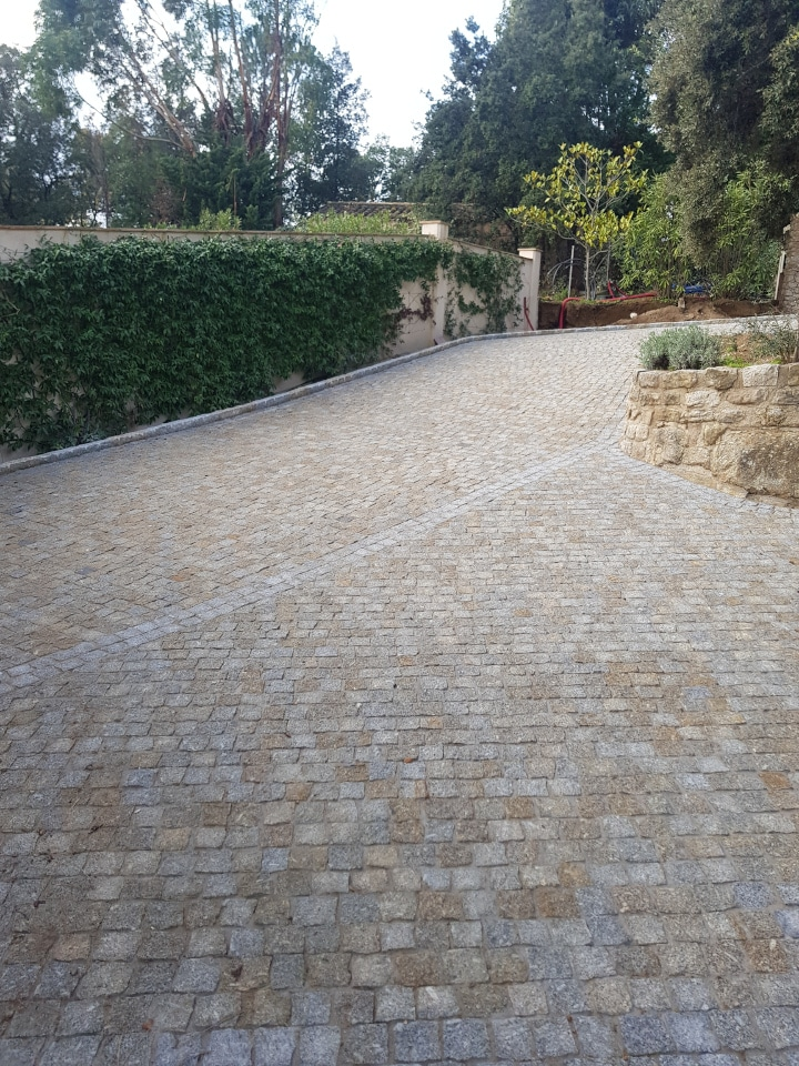 da costa pavage reception de chantier allee jardin pave arboree