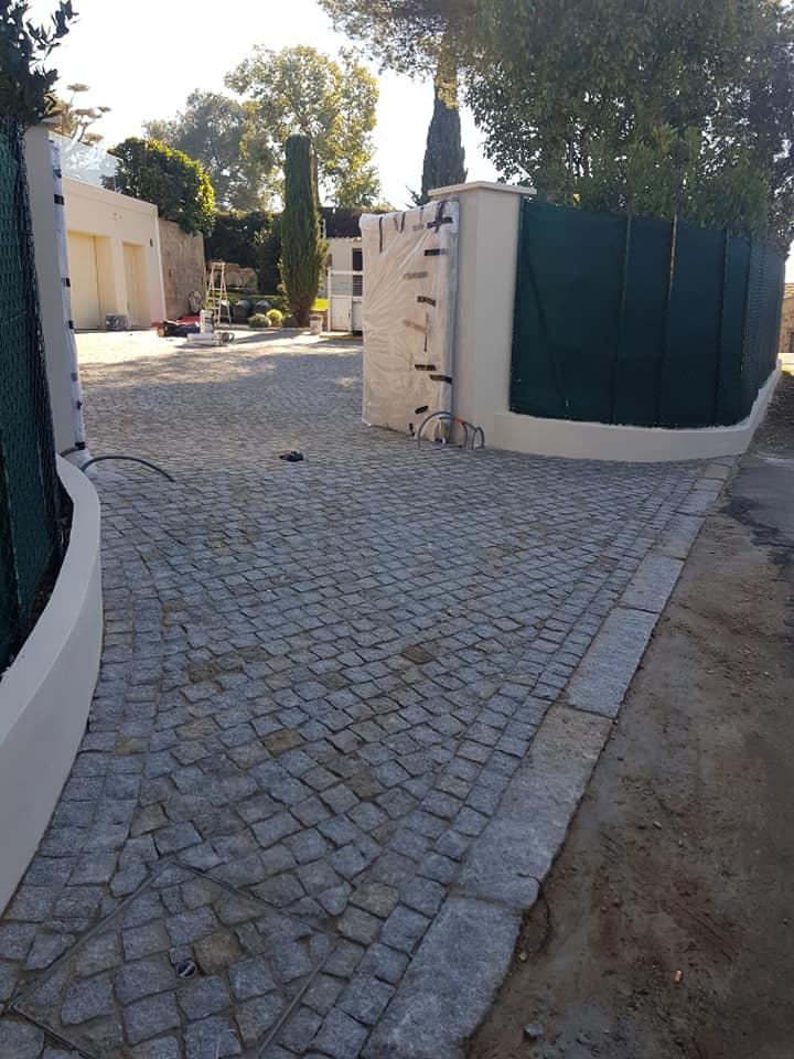 Da Costa pavage entree portail paves naturelle