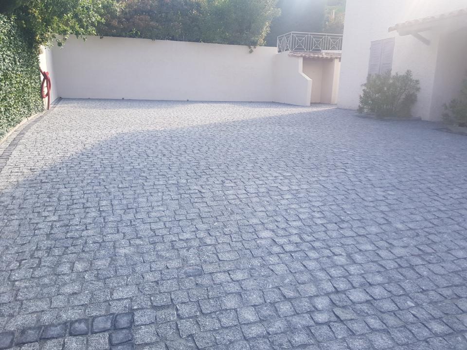 dacosta pavage paves granit pose droit joints contrariés gris
