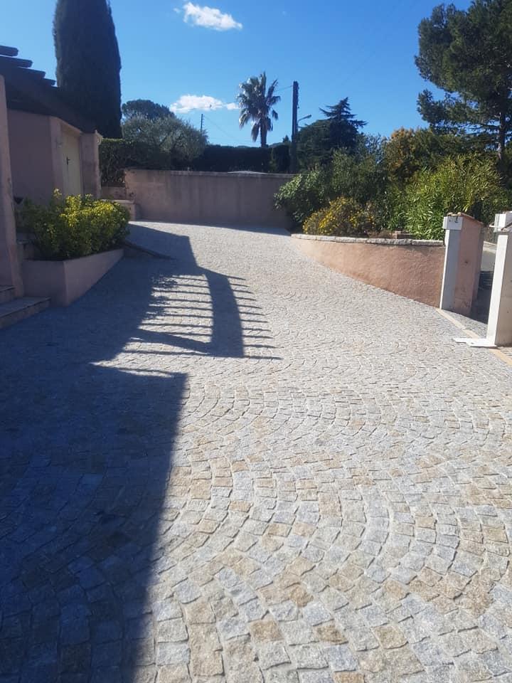 Dacosta pavage granit mixtepose en arche draguignan