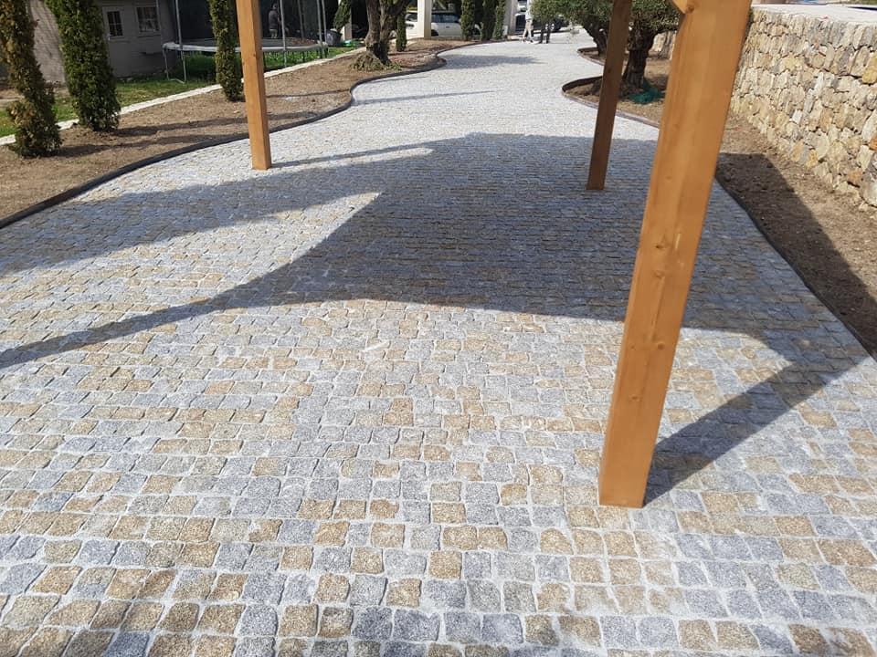dacosta pavage paves granit pose droit joints droit mixte