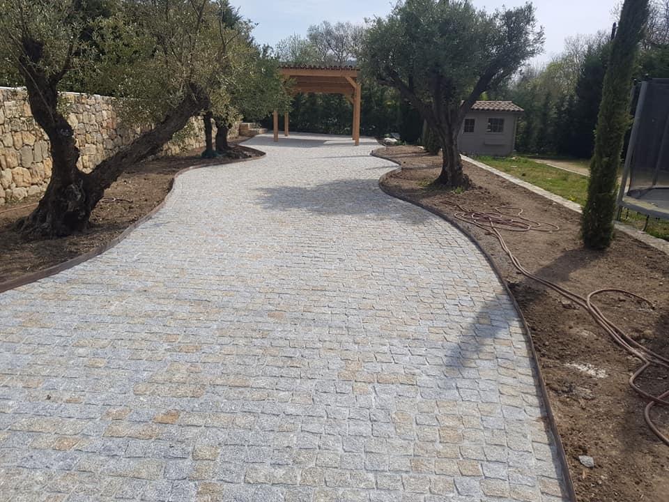 dacosta pavage paves granit pose droit joints droit mixte draguignan