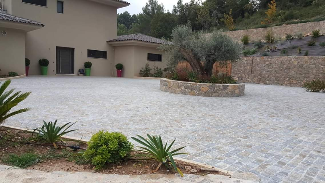 dacosta pavage paves granit pose droit joints droit mixte draguignan paca