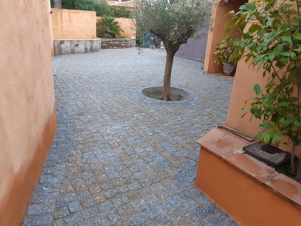 Pavés granit gris
