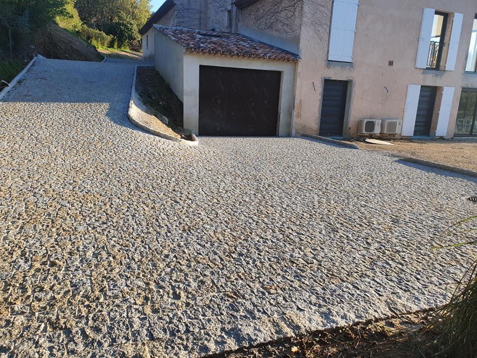 pavés granit mixte